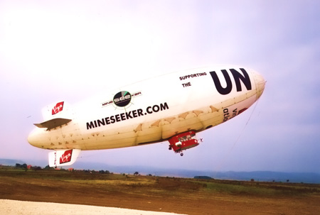 The Mineseeker AIrship in landmine detection trials over Kosovo