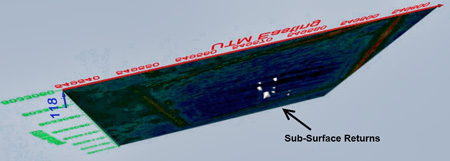 Seekertec image showing sub-surface returns